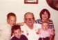 Robert Francis Murphy with his Grandchildren 1978. Reed, Eric, Melissa and Jessica