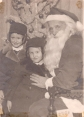 Jeanne and Maureen Murphy with Santa Claus